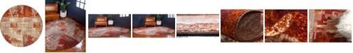 Bridgeport Home Jasia Jas06 Multi 8' x 8' Round Area Rug
