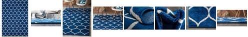 Bridgeport Home Plexity Plx2 Navy Blue 9' x 12' Area Rug