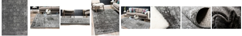 Bridgeport Home Basha Bas1 Dark Gray 8' x 11' Area Rug