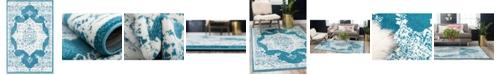 Bridgeport Home Mishti Mis6 Blue 4' x 6' Area Rug