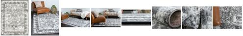 Bridgeport Home Mishti Mis3 Gray 8' x 10' Area Rug