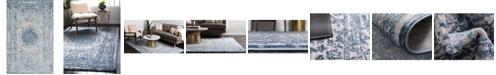 Bridgeport Home Aitana Ait1 Blue 5' x 8' Area Rug