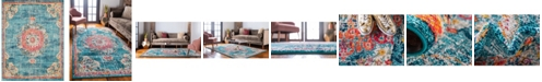 Bridgeport Home Lorem Lor1 Turquoise 9' x 12' Area Rug
