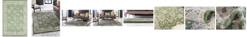 "Bridgeport Home Lorem Lor3 Green 5' 3"" x 7' 7"" Area Rug"