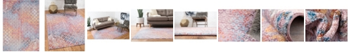 Bridgeport Home Prizem Shag Prz2 Lilac 7' x 10' Area Rug