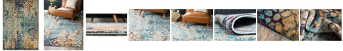 Bridgeport Home Brio Bri1 Blue 7' x 10' Area Rug