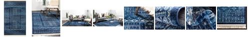 Bridgeport Home Borough Bor4 Blue 5' x 8' Area Rug