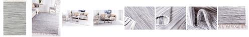 Bridgeport Home Jari Striped Jar1 Gray 4' x 6' Area Rug