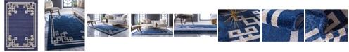 Bridgeport Home Anzu Anz3 Navy Blue 6' x 9' Area Rug