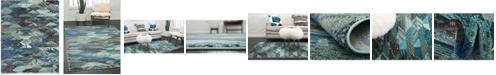 Bridgeport Home CLOSEOUT! Arcata Arc4 Blue 8' x 10' Area Rug