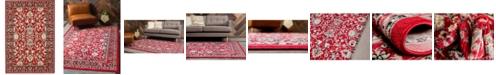 Bridgeport Home Arnav Arn1 Red 4' x 6' Area Rug