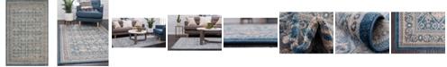 Bridgeport Home Bellmere Bel4 Light Blue 4' x 6' Area Rug