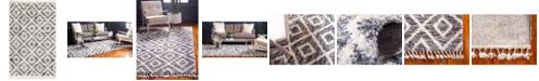 Bridgeport Home Lochcort Shag Loc2 Gray 5' x 8' Area Rug