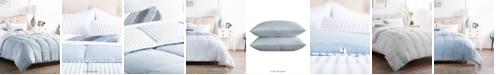 Brookside Striped Reversible Chambray Comforter Set, King