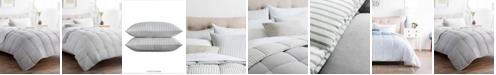 Brookside Striped Reversible Chambray Comforter Set, Oversized King
