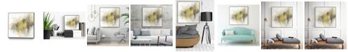 "Giant Art 20"" x 20"" Saffron Abstract I Art Block Framed Canvas"