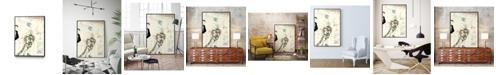 "Giant Art 40"" x 30"" Arte Deco Fashion II Art Block Framed Canvas"