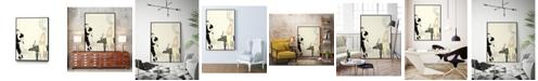 "Giant Art 28"" x 22"" Arte Deco Fashion I Art Block Framed Canvas"