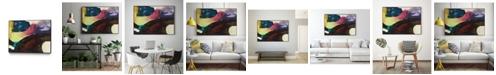 "Giant Art 36"" x 24"" Obsession I Art Block Framed Canvas"