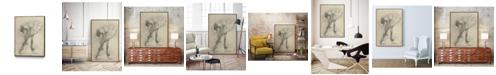 "Giant Art 40"" x 30"" Antique Ballerina Study II Art Block Framed Canvas"