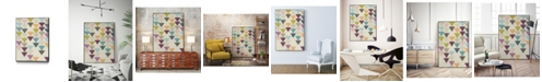 "Giant Art 14"" x 11"" Confetti Prism IX Art Block Framed Canvas"