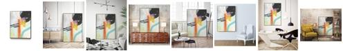 "Giant Art 28"" x 22"" Rhythm Variations I Art Block Framed Canvas"