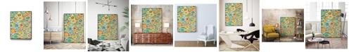 """Giant Art 28"""" x 22"""" Overlapping Ovals I Art Block Framed Canvas"""