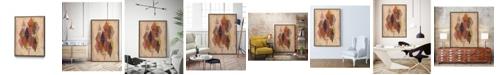 "Giant Art 40"" x 30"" Inked Triangles II Art Block Framed Canvas"