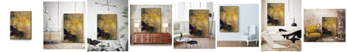 """Giant Art 32"""" x 24"""" Amber Haze II Art Block Framed Canvas"""