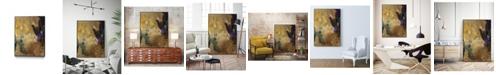 "Giant Art 40"" x 30"" Amber Haze I Art Block Framed Canvas"