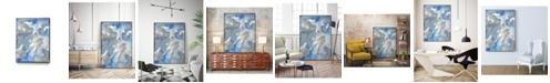 "Giant Art 32"" x 24"" Subtle Blues II Art Block Framed Canvas"