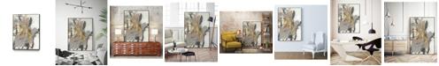 """Giant Art 36"""" x 24"""" Golden Blush II Art Block Framed Canvas"""