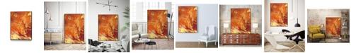 "Giant Art 24"" x 18"" Nomadic Blaze III Art Block Framed Canvas"