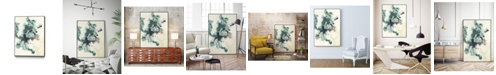"""Giant Art 24"""" x 18"""" Teal Tributary I Art Block Framed Canvas"""