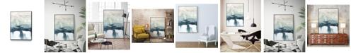 """Giant Art 28"""" x 22"""" Organic Cascade II Art Block Framed Canvas"""