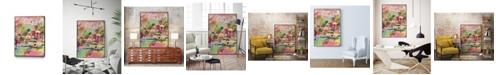 """Giant Art 40"""" x 30"""" Boho Garden III Art Block Framed Canvas"""