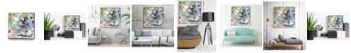 """Giant Art 30"""" x 30"""" Jostle III Art Block Framed Canvas"""