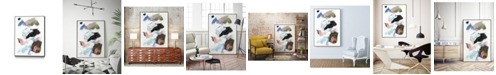 "Giant Art 24"" x 18"" Sonata II Art Block Framed Canvas"