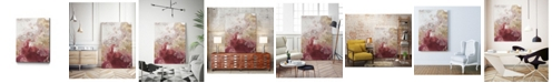 "Giant Art 40"" x 30"" Ocean Splash II Crimson Version Museum Mounted Canvas Print"