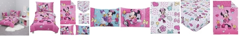 Disney Toddler Girl's Minnie Mouse Happy Hearts Toddler Bed Set, 4 Piece