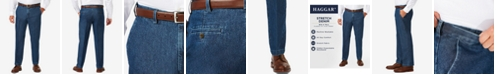 Haggar Men's Big & Tall Stretch Denim Classic-Fit Flat Front Pants