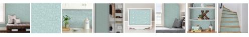 Brewster Home Fashions Aqua Poplin Texture Peel And Stick Wallpaper