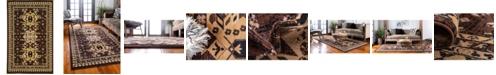 Bridgeport Home Charvi Chr1 Brown 5' x 8' Area Rug