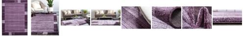 Bridgeport Home Lyon Lyo1 Purple 7' x 10' Area Rug