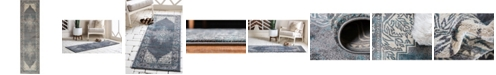 """Bridgeport Home Aroa Aro8 Gray 2' 7"""" x 10' Runner Area Rug"""