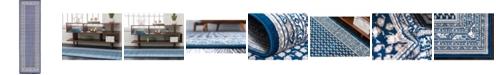 """Bridgeport Home Axbridge Axb1 Blue 2' 9"""" x 9' 10"""" Runner Area Rug"""