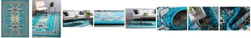 Bridgeport Home Charvi Chr1 Turquoise 9' x 12' Area Rug