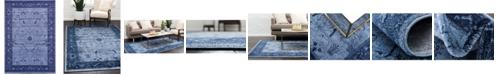 Bridgeport Home Aldrose Ald4 Blue 10' x 14' Area Rug