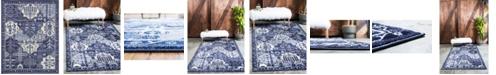 Bridgeport Home Aldrose Ald1 Blue 8' x 10' Area Rug