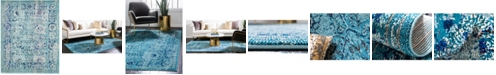 Bridgeport Home Sana San4 Light Blue 8' x 10' Area Rug